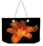 Lily Raindrops In Giverny, France Weekender Tote Bag