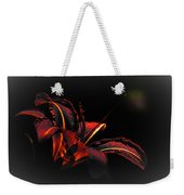 Lily Red-black  Weekender Tote Bag