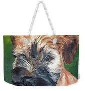 Lily, Soft Coated Wheaten Puppy Weekender Tote Bag