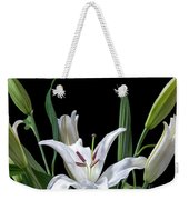 A White Oriental Lily Surrounded Weekender Tote Bag