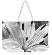 Lily White - Bw Weekender Tote Bag