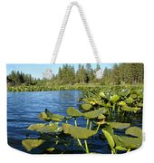 Lilypads On Amber Lake Weekender Tote Bag