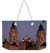 Lima Cathedral Twin Towers One Weekender Tote Bag