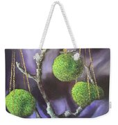 Lime And Violet In Harmony Weekender Tote Bag