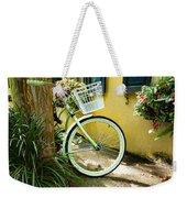 Lime Green Bike Weekender Tote Bag