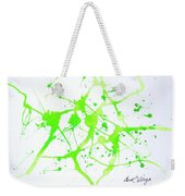Lime Green Study Weekender Tote Bag