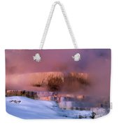 Limestone Artwork Minerva Springs Yellowstone National Park Weekender Tote Bag