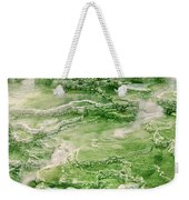 Limestone Detail Minerva Springs Yellowstone National Park Weekender Tote Bag