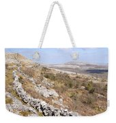 Limestone Pavements And Dry-stone Walls, Fahee North, Burren, County Clare, Ireland Weekender Tote Bag