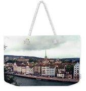 Limmatquai In Zurich Switzerland Weekender Tote Bag