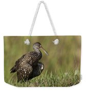 Limpkin Stretching In The Grass Weekender Tote Bag
