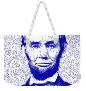 Lincoln Abstract Blue Weekender Tote Bag
