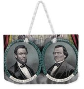 Lincoln And Johnson Election Banner 1864 Weekender Tote Bag