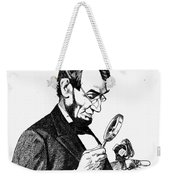 Lincoln Cartoon, 1873 Weekender Tote Bag