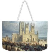 Lincoln Cathedral From The North West Weekender Tote Bag by Frederick Mackenzie