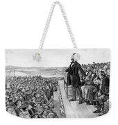 Lincoln Delivering The Gettysburg Address Weekender Tote Bag