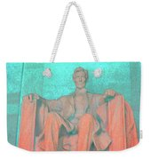 Lincoln In Blue Weekender Tote Bag