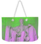 Lincoln In Green Weekender Tote Bag