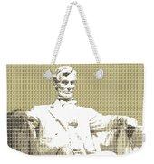 Lincoln Memorial - Gold Weekender Tote Bag