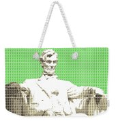 Lincoln Memorial - Green Weekender Tote Bag