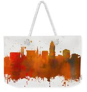 Lincoln Nebraska Colorful Skyline Weekender Tote Bag
