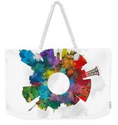 Lincoln Small World Cityscape Skyline Abstract Weekender Tote Bag