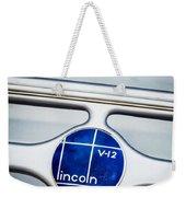 Lincoln V12 Emblem Weekender Tote Bag