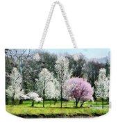 Line Of Flowering Trees Weekender Tote Bag