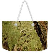 Line Of Oak Trees To Distance Weekender Tote Bag