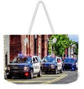 Line Of Police Cars Weekender Tote Bag