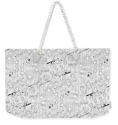 Linear Bulbs Pattern Lite Gray Weekender Tote Bag
