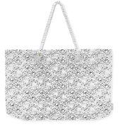Linear Bulbs Pattern Whitesilver Black Weekender Tote Bag