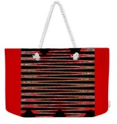 Linear Lesson In Black And Red Weekender Tote Bag