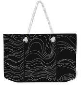 Lines 1-2-3 White On Black Weekender Tote Bag