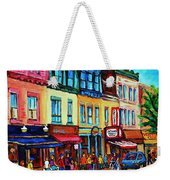 Lineup For Smoked Meat Sandwiches Weekender Tote Bag