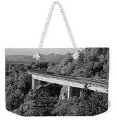 Linn Cove Viaduct Black And White Weekender Tote Bag
