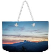 Linville Gorge Wilderness Mountains At Sunset Weekender Tote Bag