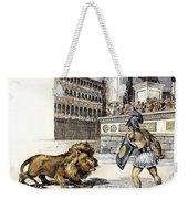 Lion & Gladiator Weekender Tote Bag