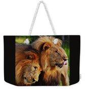 Lion 22 Weekender Tote Bag