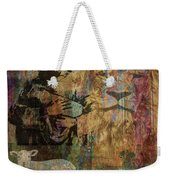 Lion And Lamb Collage Weekender Tote Bag