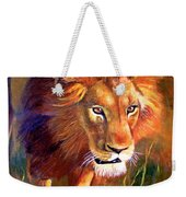 Lion At Sunset Weekender Tote Bag