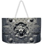 Lion Head Door Knocker Weekender Tote Bag by Adam Romanowicz