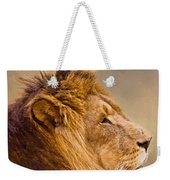 Lion Head Weekender Tote Bag