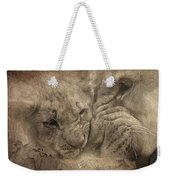 Lion Love Big And Small Weekender Tote Bag