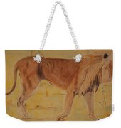 Lion On The Plain Weekender Tote Bag