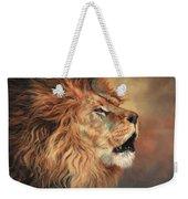 Lion Roar Profile Weekender Tote Bag