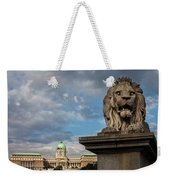 Lion Sculpture In Budapest Weekender Tote Bag