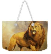 Lion  Weekender Tote Bag by William Huggins