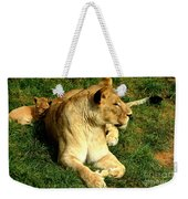 Lioness And Cub Weekender Tote Bag