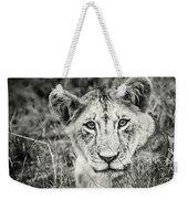 Lioness Portrait Weekender Tote Bag